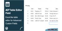 Table acf editor field