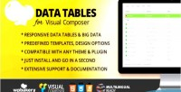 Tables data addon composer visual for