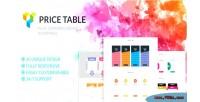 Tables pricing addon wordpress composer visual