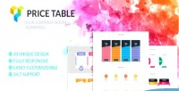Tables pricing addon wordpress composer visual