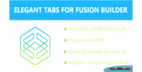 Tabs elegant builder fusion for