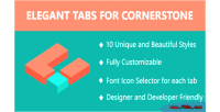 Tabs elegant for cornerstone