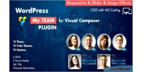 Team showcase for visual plugin wordpress composer