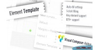 Template element composer visual for