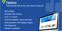 Testimo testimonial add on composer visual for