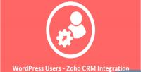 Users wordpress integration crm zoho