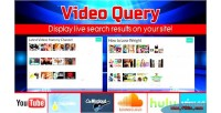 Video query youtube dailymotion hulu mixcloud vimeo & soundcloud