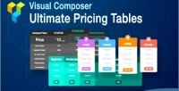 Visual composer ultimate pricing on add tables