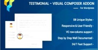 Visual testimonial composer addon