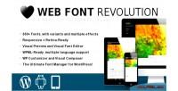 Web font revolution font wordpress for manager