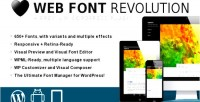 Web font revolution font wordpress for manager