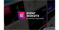 Widgets event addons builder for page elementor