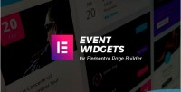 Widgets event addons builder for page elementor