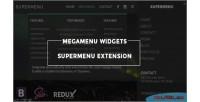 Widgets megamenu supermenu extension