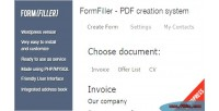 Wordpress formfiller system creation documents