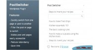Wordpress postswitch posts switcher pages and