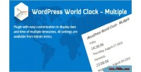 World wordpress clock multiple