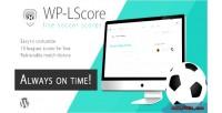 Wp lscore soccer live plugin score