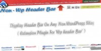 Wp non header bar
