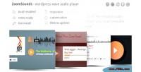 Zoomsounds wordpress visual composer player audio waveform