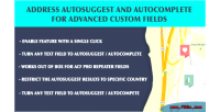 Address acf autocomplete & autosuggest