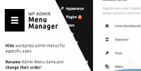 Admin wp menu manager