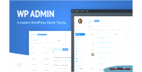 Admin wp theme cd a & clean modern theme admin wordpress