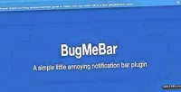 A bugmebar simple plugin notification little