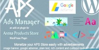 Ads aps manager add for on aps plugin wordpress products
