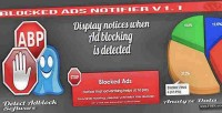 Blocked ban ads statistics with notifier