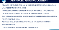 Floating advanced content