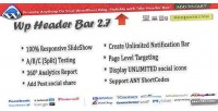 Header wp bar bar notification wordpress