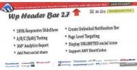 Header wp bar bar notification wordpress