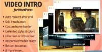 Intro video for wordpress