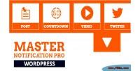 Master notification pro responsive notification bar wordpress for plugin