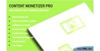 Monetizer content pro
