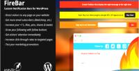 Notification firebar wordpress for bars