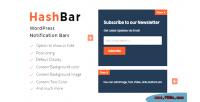 Pro hashbar bar notification wordpress