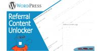 Referral wordpress content unlock