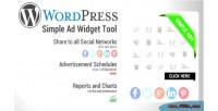 Simple wordpress tool widget ads