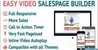 Video easy salespage builder