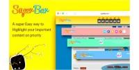 Wordpress superbar notification bar
