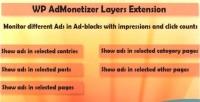 Wp layers extension pro admonetizer
