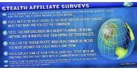 Affiliate stealth surveys