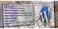 Ajax real wordpress for uploader