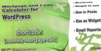 And mortgage loan plugin widget calculator