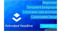 Animate layer headline extension