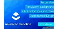 Animate layer headline extension