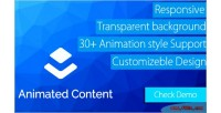 Animated layer content extension