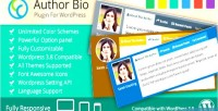 Author bio wp plugin responsive use multi author